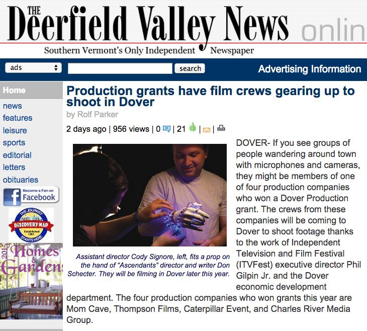 Newspaper News: Production Grant
